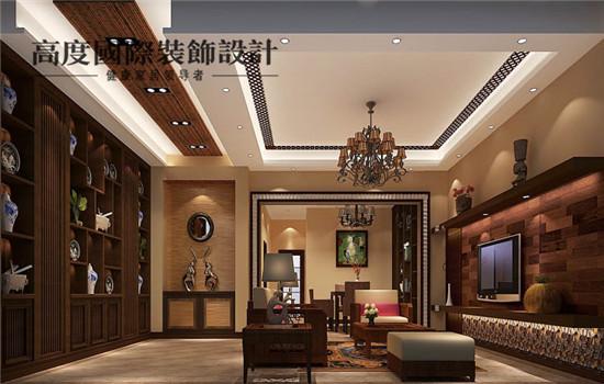 东南亚 装修 设计 四居 客厅图片来自高度老杨在潮白河孔雀城 四居 东南亚风格的分享