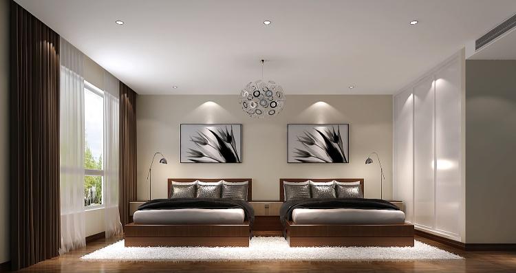 简约 欧式 田园 混搭 二居 三居 白领 小资 旧房改造 卧室图片来自高度国际装饰王伟在【西山壹号院】-----简约的分享