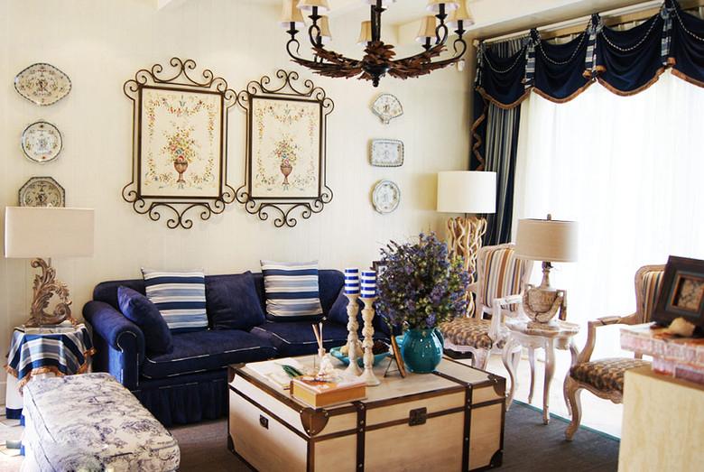 客厅图片来自慕尚族在海伦春天87平混搭风格案例的分享