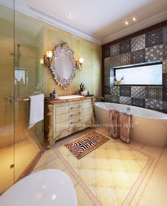 卫生间图片来自昆明易百装饰-km100zs在【巴洛克风格】云南艺术家园区的分享
