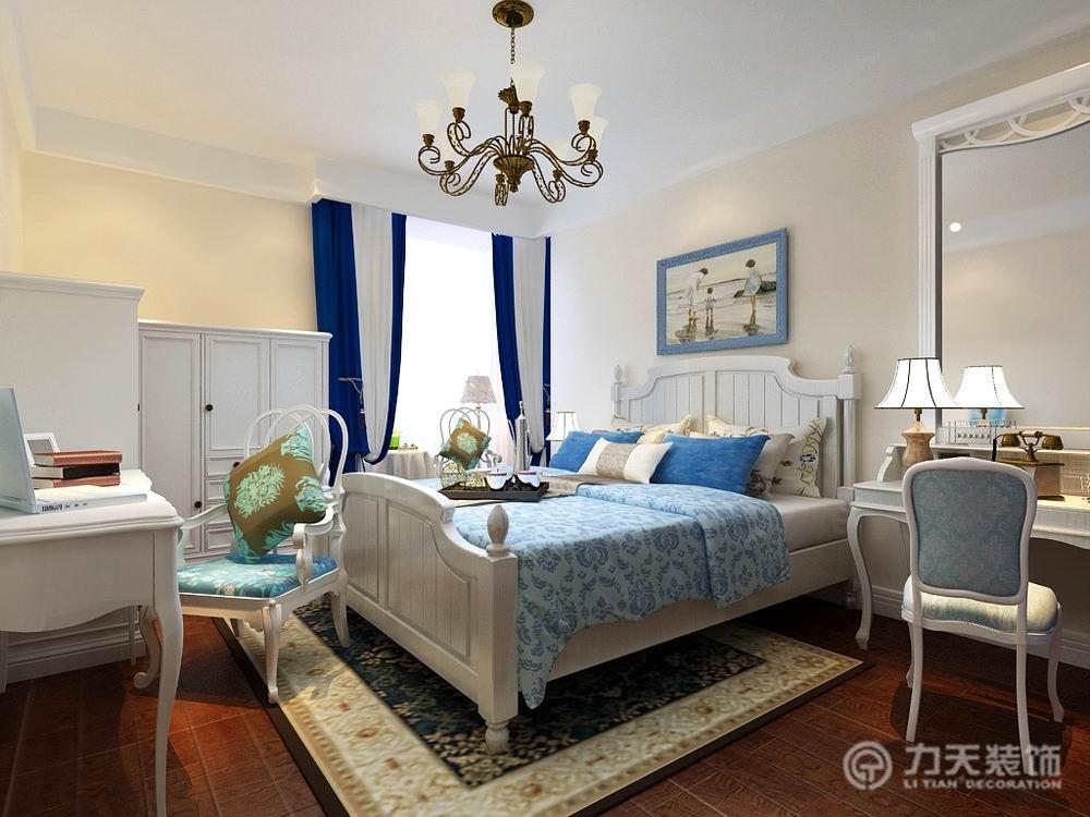 简约 白领 别墅 收纳 旧房改造 80后 小资 地中海 二居 卧室图片来自阳光力天装饰梦想家更爱家在上北新兴家园两室两厅 109㎡的分享