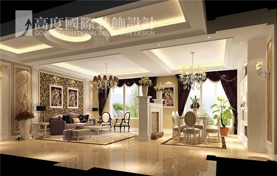美式 装修 设计 客厅图片来自高度老杨在鲁能七号院 三室二厅二卫 美式的分享