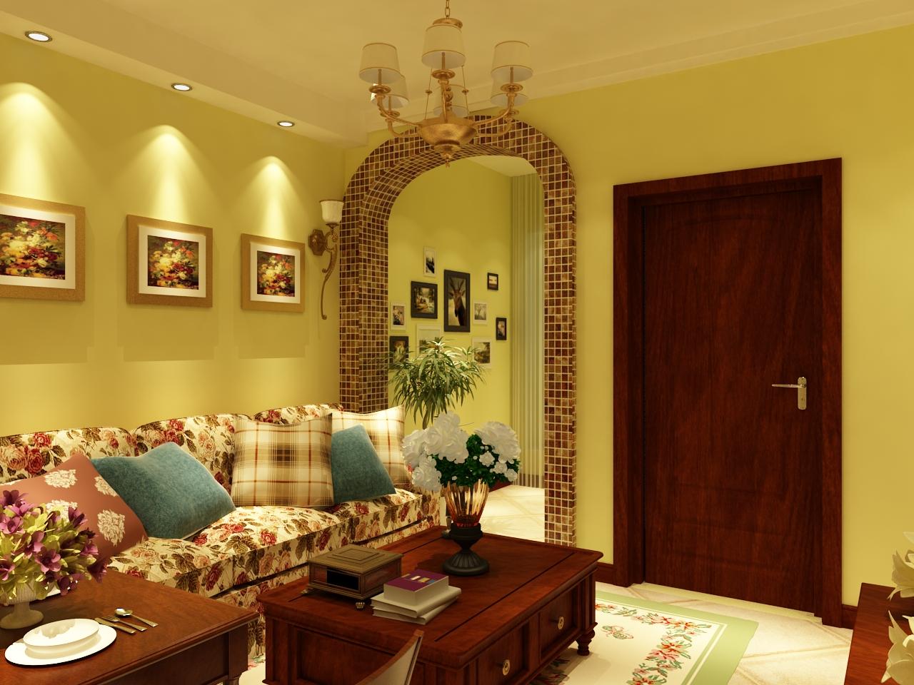 田园 二居 欧洲城 客厅图片来自百家设计小刘在欧洲城62平田园风格的分享