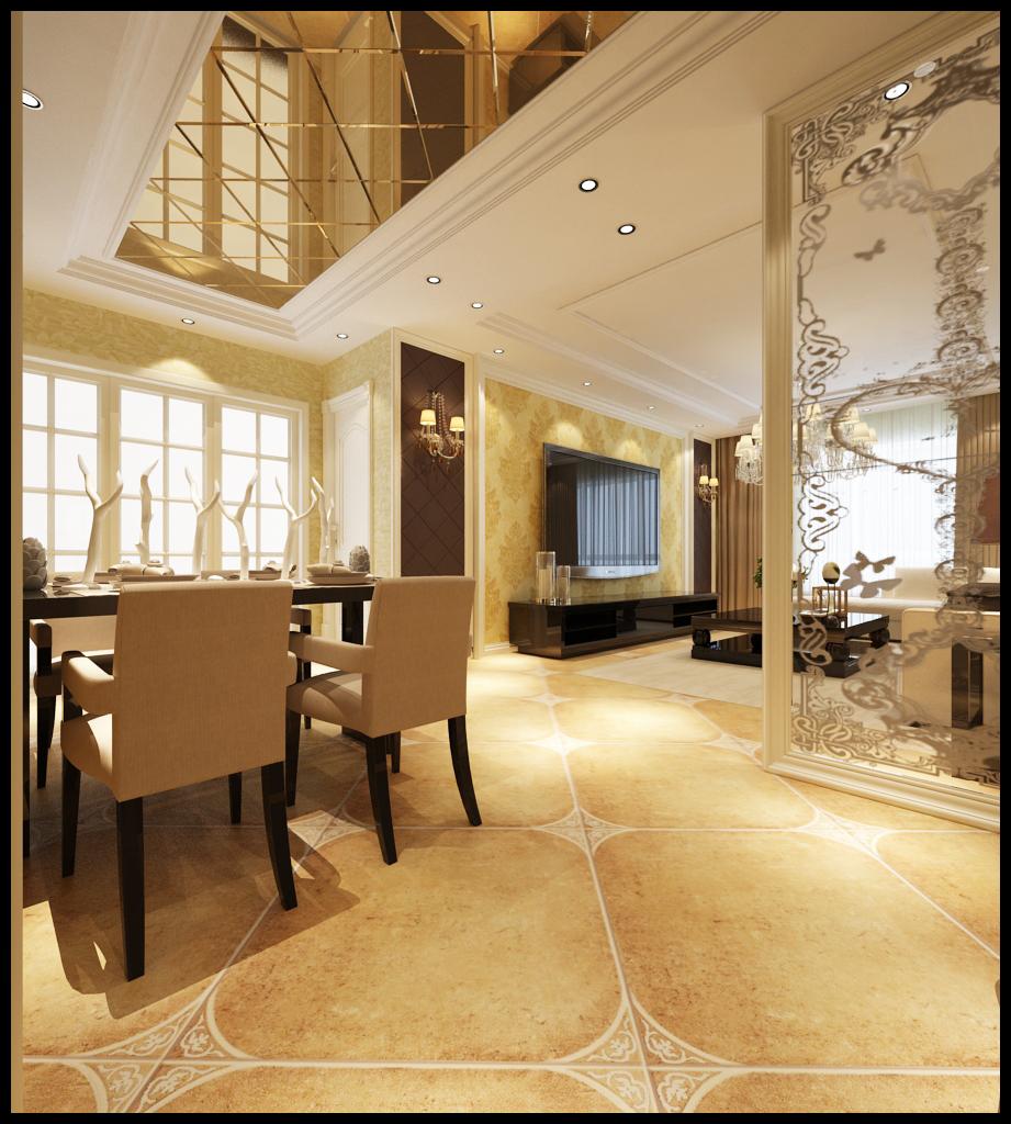 欧式 三居 龙湖紫都城 餐厅图片来自百家设计小刘在龙湖紫都城115平欧式半包4万的分享