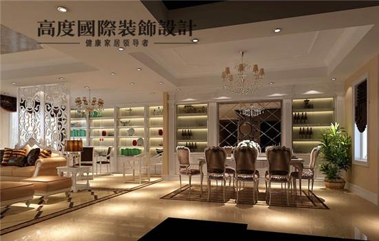 简欧 装修 设计 餐厅图片来自高度老杨在金色漫香苑 180平 简欧的分享