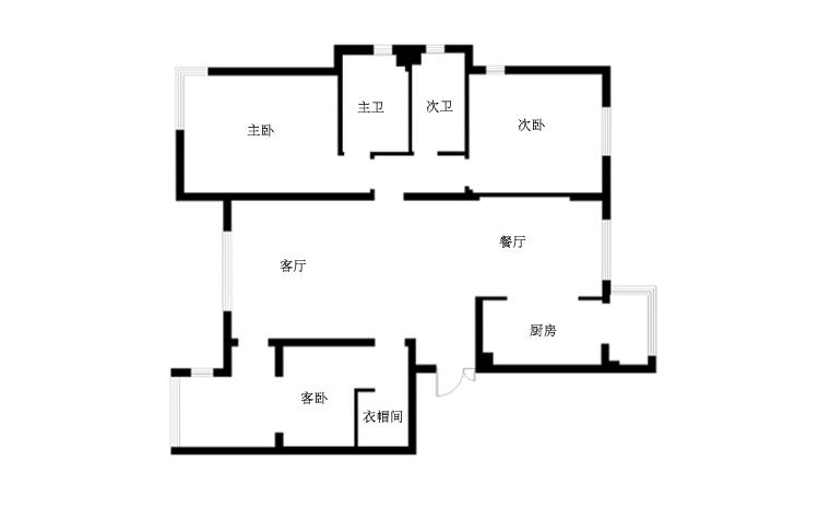 欧式 三居 白领 简约 户型图图片来自天津实创装饰集团l在打败时间的欧式浪漫的分享