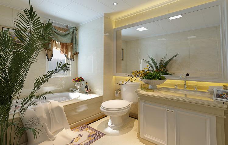 欧式 三居 白领 简约 卫生间图片来自天津实创装饰集团l在打败时间的欧式浪漫的分享