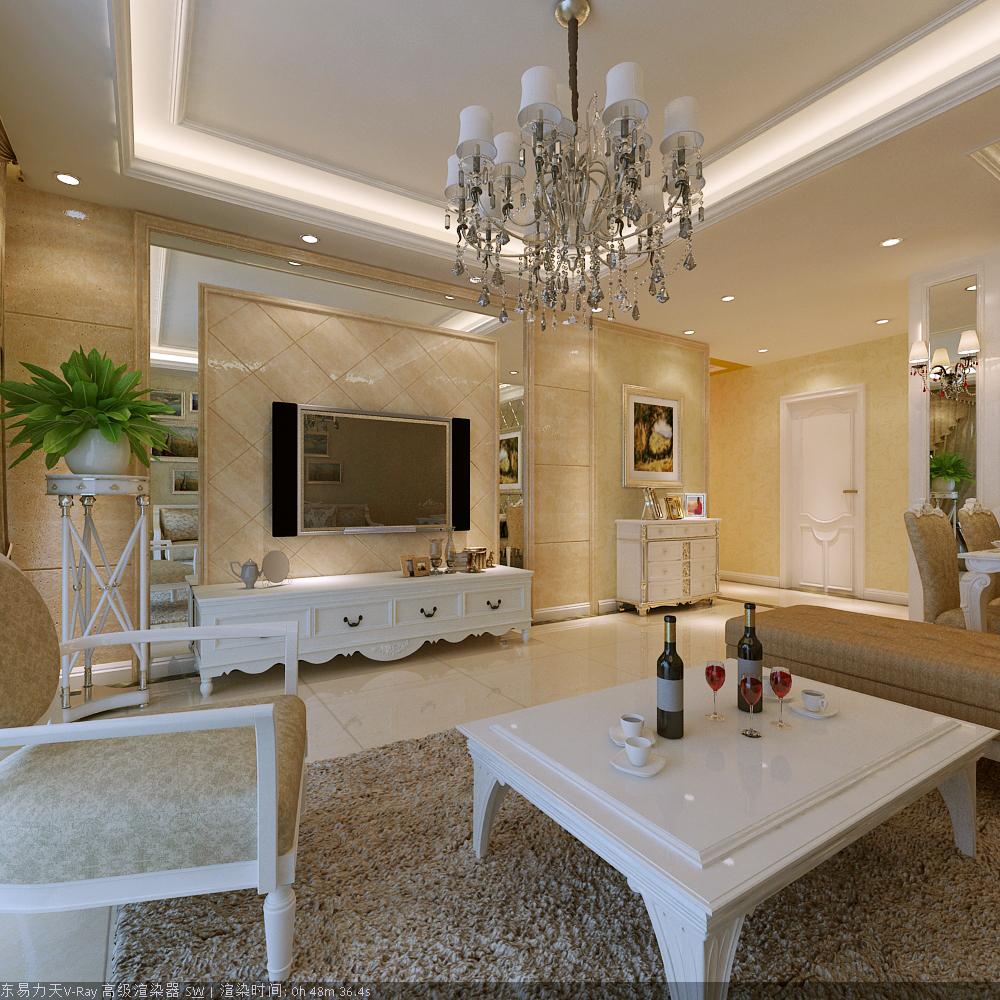 欧式 三居 白领 收纳 客厅图片来自富有世纪装饰河南公司在书的倾述的分享