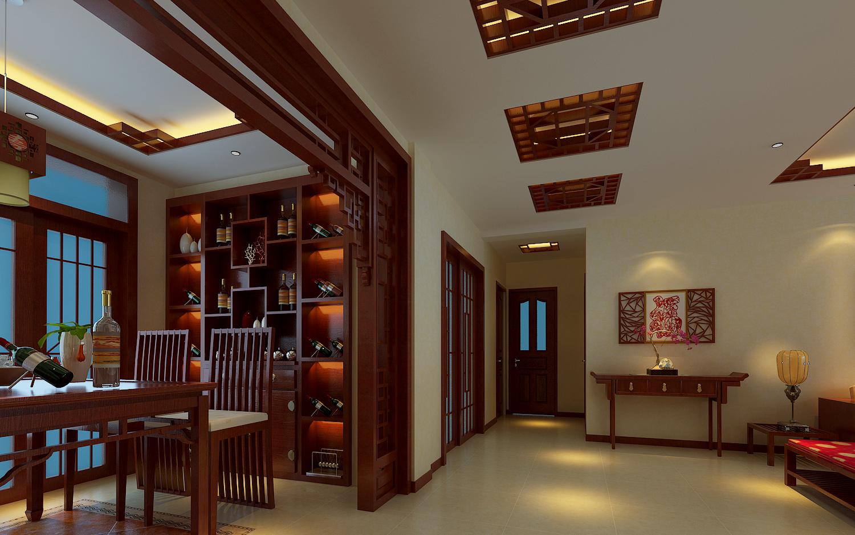 中式风格 保利上林湾 百家装饰 背景墙 玄关图片来自张竟月在保利上林湾中式大气风格的分享