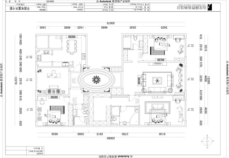 一号院 西山 欧式 二居 四居 复式 跃层 别墅 户型图图片来自高度国际装饰王伟在【西山一号院】-277㎡--欧式的分享