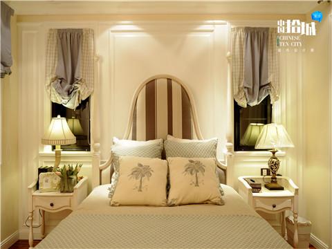 美式 混搭 三居 白领 卧室图片来自湖南美迪装饰在美村的分享