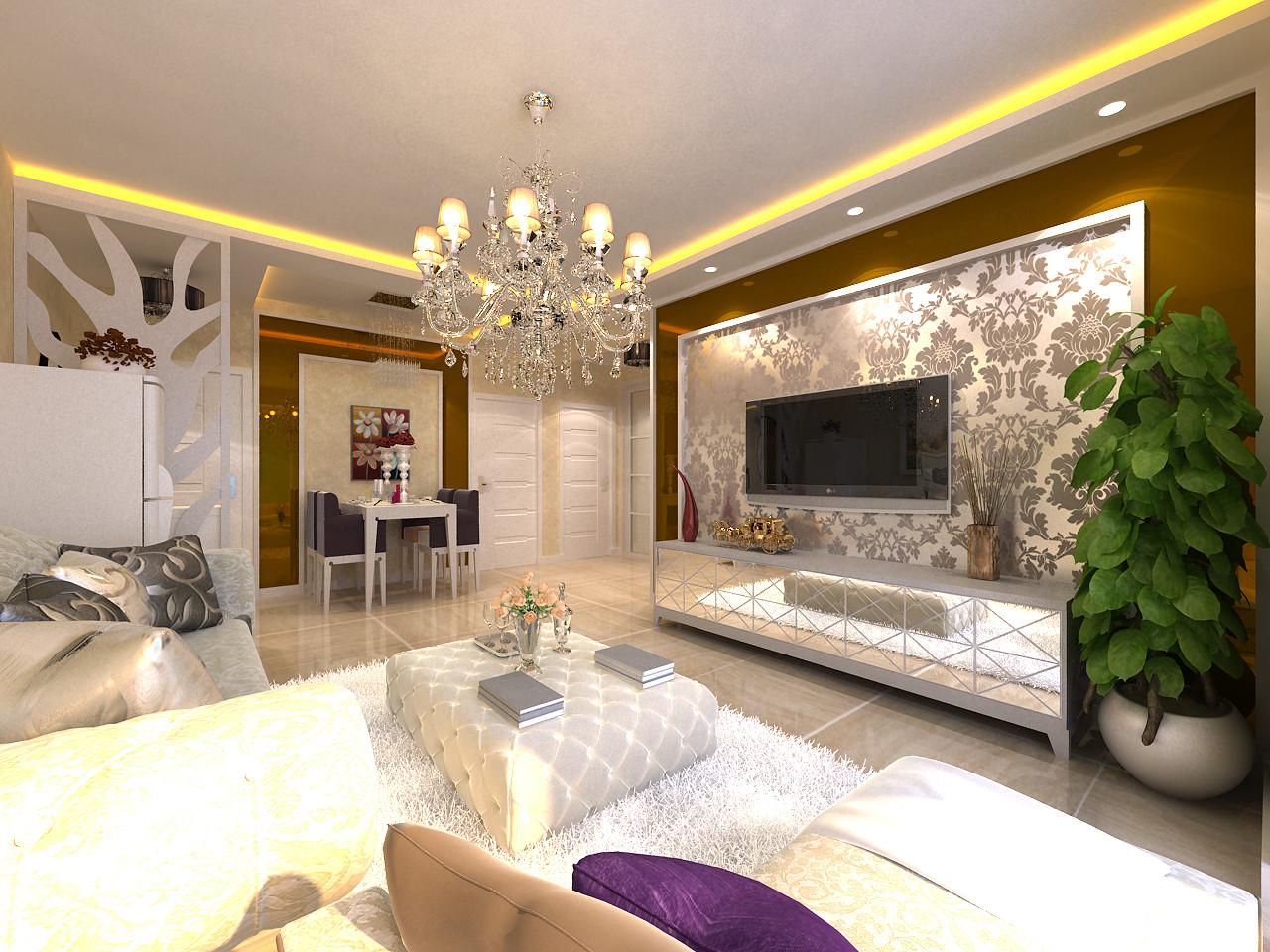 百家装饰 龙湖紫都城 环保装修 卫生间效果 客厅图片来自张竟月在龙湖紫都城88平现代风格的分享