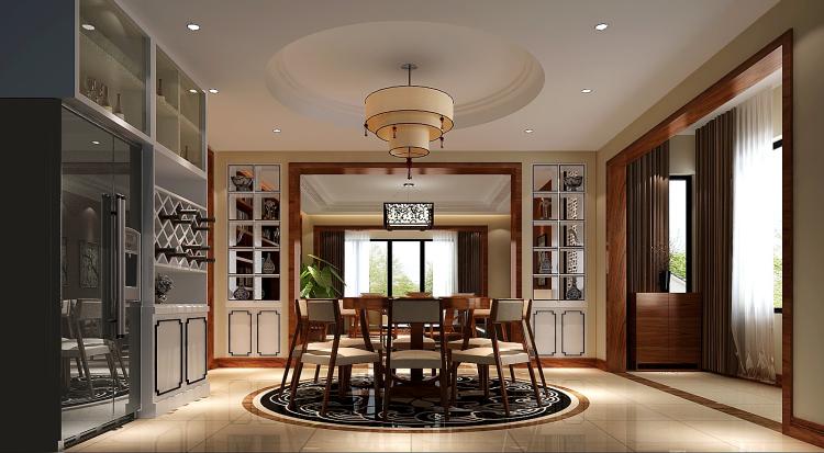 简约 欧式 田园 混搭 三居 白领 新中式 装修 房子 餐厅图片来自高度国际装饰王伟在【西山壹号院】三室二厅新中式的分享