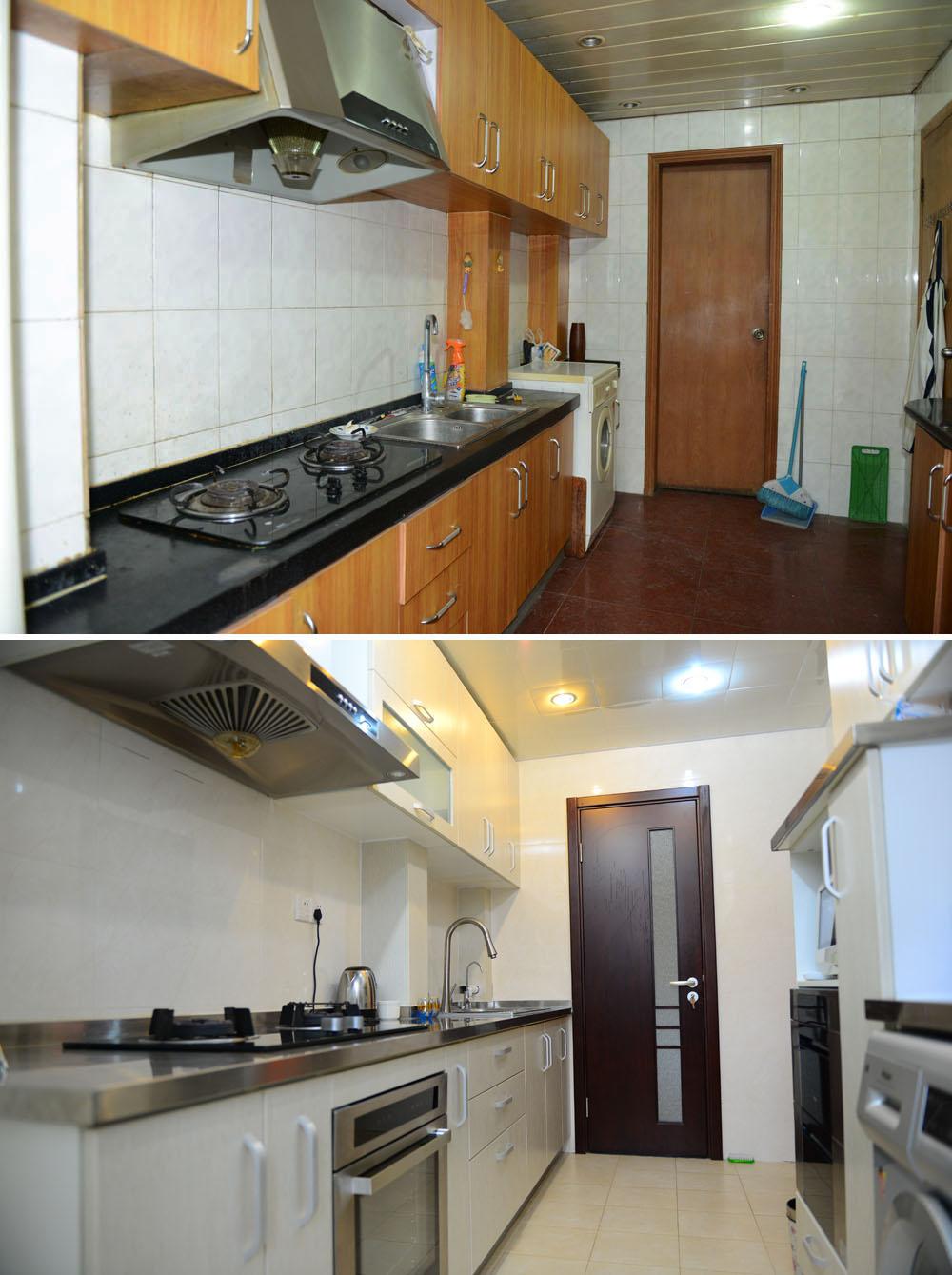简约 二居 旧房改造 收纳 80后 今朝装饰 厨房图片来自北京老房装修-今朝装饰王丽在老房翻新前后对比的分享