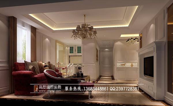 汇夏少城装修客厅效果细节图 成都高度国际装饰设计