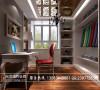 汇夏少城装修书房效果细节图 成都高度国际装饰设计
