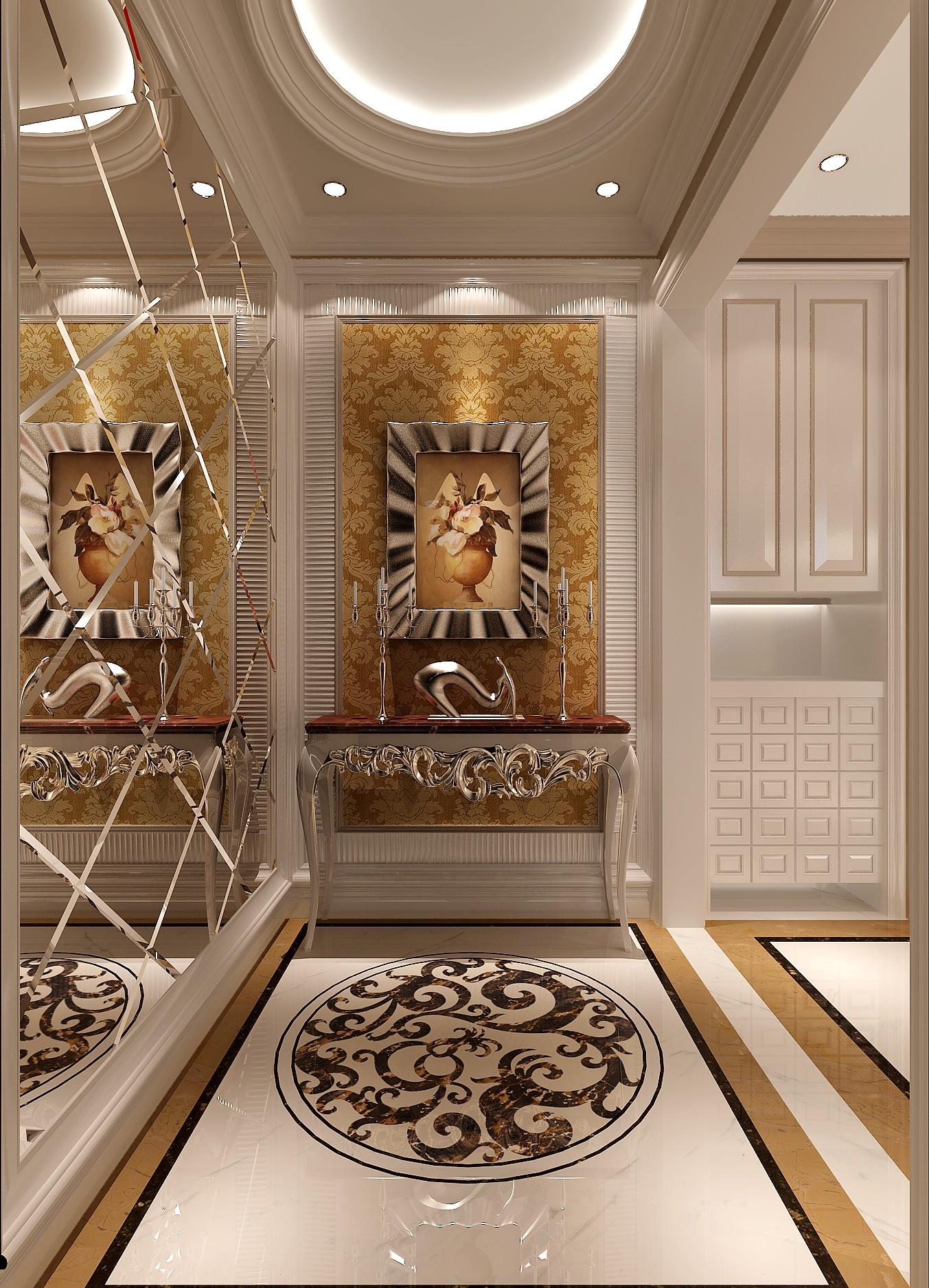简约 欧式 别墅 白领 80后 高度国际 秦大涛 红杉溪谷 婚房 玄关图片来自北京高度国际装饰设计在300平浪漫红杉溪谷的分享