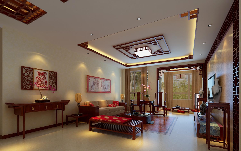 中式风格 保利上林湾 百家装饰 背景墙 客厅图片来自张竟月在保利上林湾中式大气风格的分享