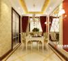 餐厅的设计精致而又奢华,菱形镜面材质的背景墙趣味十足,又让整个餐厅多了一些神秘感