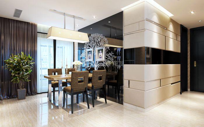 现代简约 龙发装饰 紫汀苑 四居 装修设计 餐厅图片来自龙发装饰集团西安分公司在曲江紫汀苑,竭力给装饰引入新意的分享