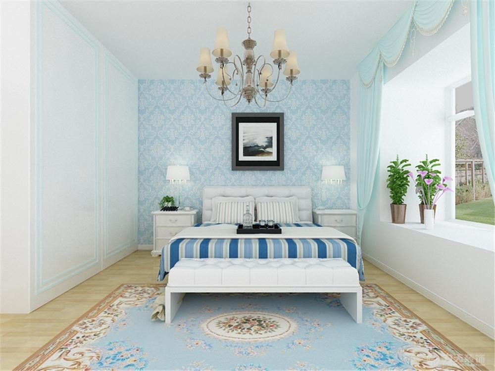 地中海 二居 白领 收纳 80后 小资 卧室图片来自阳光力天装饰在瑞晨家园-91㎡-地中海的分享