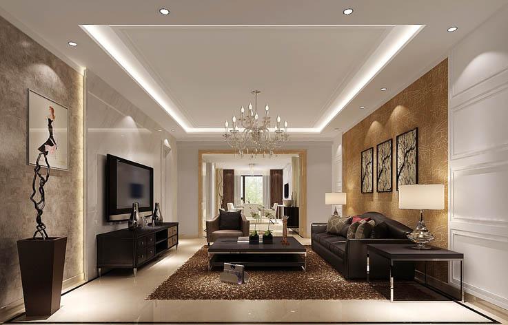 极简 客厅图片来自高度国际宋书培在合景领峰三居室装饰效果图的分享