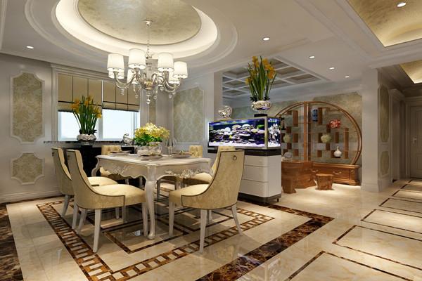 龙发装饰 现代简约 欧式风格 餐厅图片来自西安龙发装饰在古典和现代的双层审美效果的分享