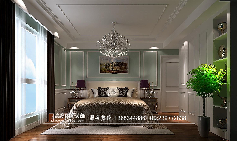 高度样板间 成都装修 装修公司 高度国际 汇夏少城 卧室图片来自成都高度国际在汇夏少城-120㎡-欧式风格 高度的分享