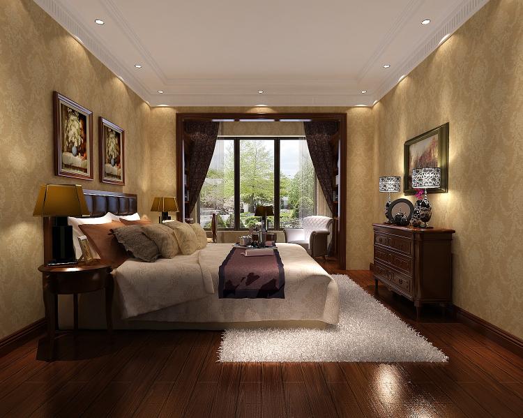 一号院 西山 欧式 三居 二居 四居 复式 跃层 别墅 卧室图片来自高度国际装饰王伟在【西山一号院】-277㎡--欧式的分享