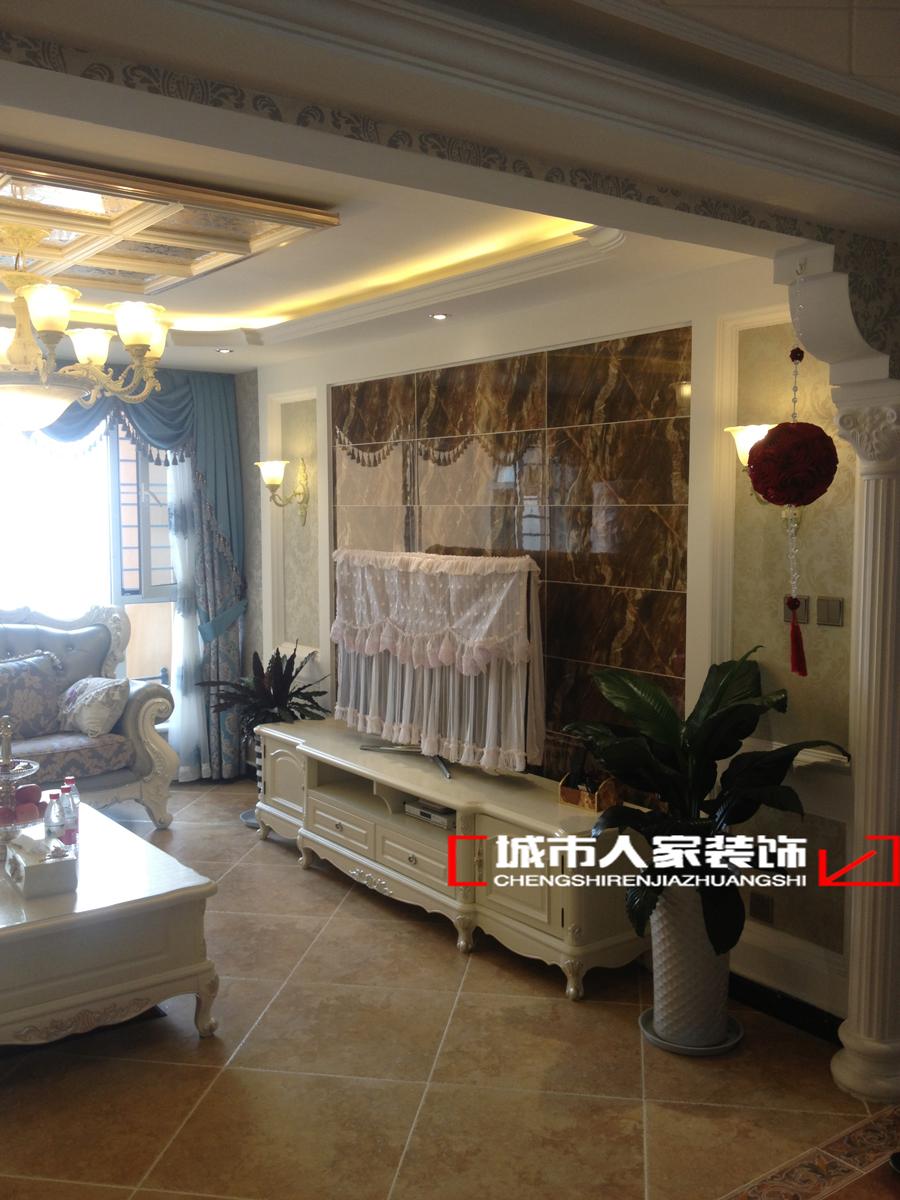欧式 二居 卧室 客厅图片来自石家庄装修装饰设计公司在国赫红珊湾110平欧式的分享
