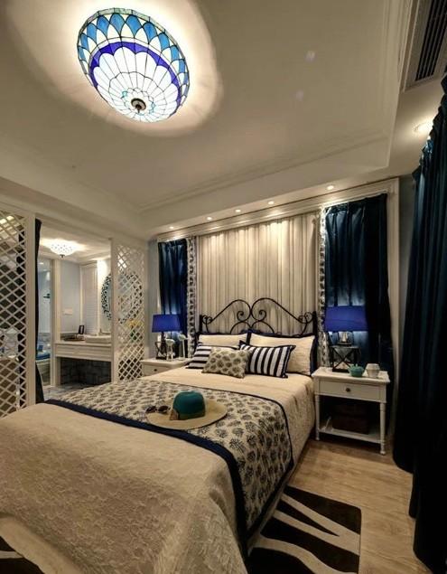 中海寰宇 百家装饰 地中海风格 半包装修 卧室图片来自张竟月在中海寰宇145平地中海风格的分享