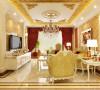 房子在设计风格上采用了极致奢华的设计手法,大量的描金增加了奢华感
