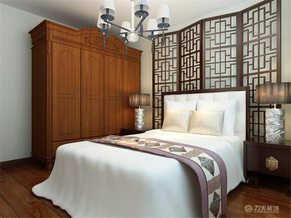 中式 二居 白领 收纳 80后 小资 卧室图片来自阳光力天装饰在御玺园-93㎡-中式风格的分享