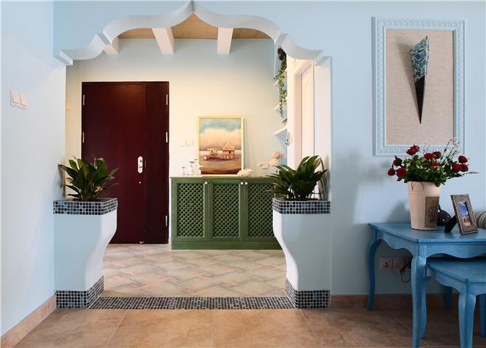 简约 田园 混搭 地中海 三居 房子装修 自然清新 弧形门窗 玄关图片来自高度国际装饰王伟在【地中海风格】-=--新岸线的分享