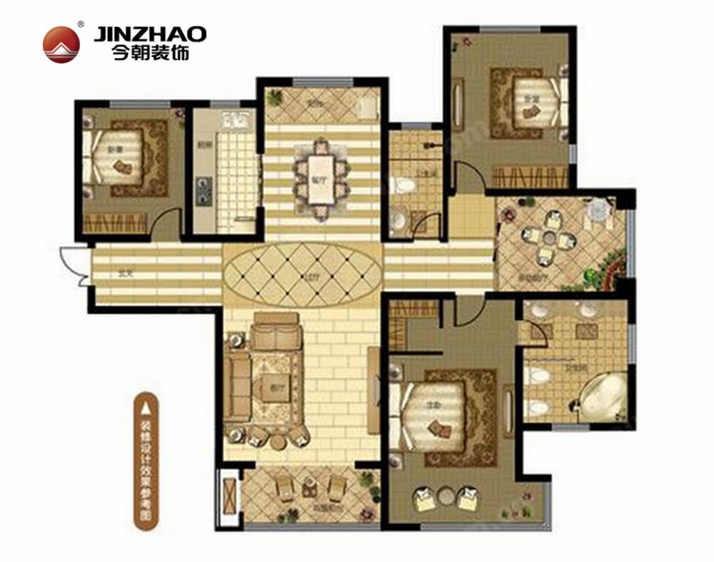 新房装修 老房装修 东南亚风格 软装配饰 热带风情 户型图图片来自今朝英瑞在奥北公元-176平-东南亚风格的分享