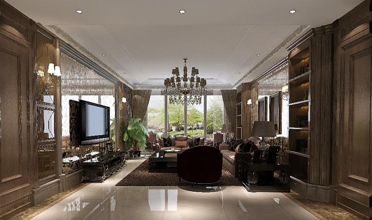 一号院 西山 欧式 三居 二居 四居 复式 跃层 别墅 客厅图片来自高度国际装饰王伟在【西山一号院】-277㎡--欧式的分享