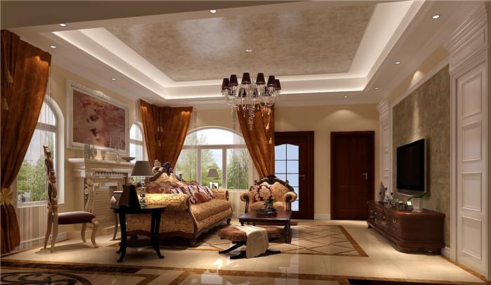 别墅 欧式 混搭 田园 土豪 装修 高度国际 房子 11.11 客厅图片来自高度国际装饰王伟在【香江别墅】--独栋420平米-欧式的分享