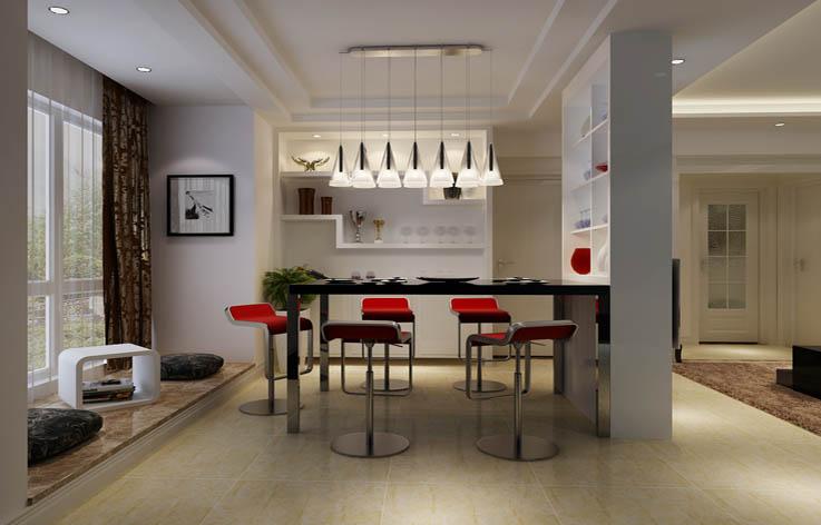 现代简约 餐厅图片来自高度国际宋书培在和平里8号三居室装饰效果图的分享