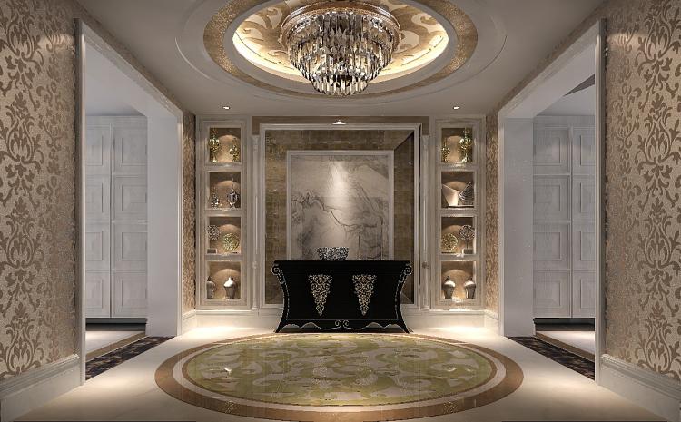 一号院 西山 欧式 三居 二居 四居 复式 跃层 别墅 玄关图片来自高度国际装饰王伟在【西山一号院】-277㎡--欧式的分享