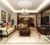房子的设计采用美式风格设计,美式风格的设计在色调的运用上一直都选用比较深沉的色调,给整个空间一种稳重的感觉和低调的奢华感