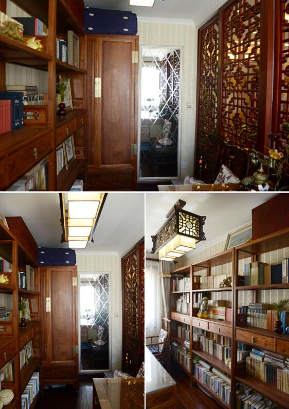 中式 三居 白领 旧房改造 今朝装饰 书房图片来自北京老房装修-今朝装饰王丽在古色古香的中式设计的分享