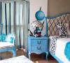 而窗帘,沙发套等布艺品,我们也可以选择一些粗棉布,让整个家显得更加的古味十足,同时,在布艺的图案上,我们最好是选择一些素雅的图案。这样会更加突显出蓝白两色所营造出的和谐氛围。
