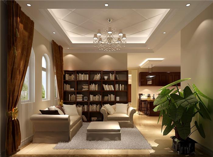 别墅 欧式 混搭 田园 土豪 装修 高度国际 房子 11.11 书房图片来自高度国际装饰王伟在【香江别墅】--独栋420平米-欧式的分享