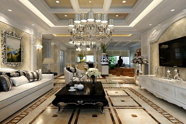 客厅图片来自西安龙发装饰在古典和现代的双层审美效果的分享