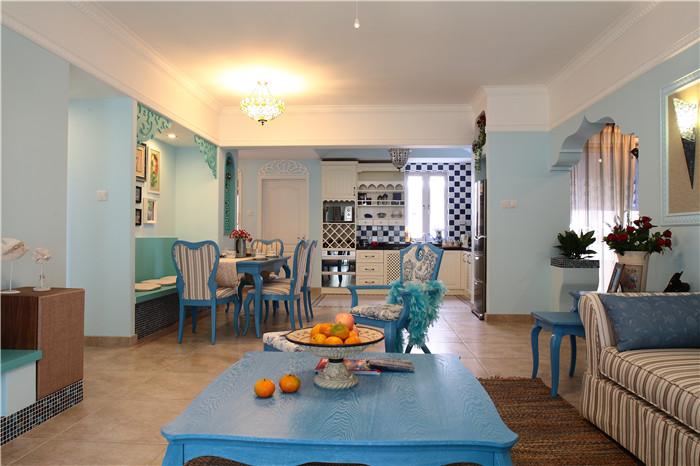 简约 田园 混搭 地中海 三居 房子装修 自然清新 弧形门窗 客厅图片来自高度国际装饰王伟在【地中海风格】-=--新岸线的分享
