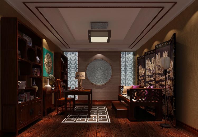 一号院 西山 欧式 三居 二居 四居 复式 跃层 别墅 书房图片来自高度国际装饰王伟在【西山一号院】-277㎡--欧式的分享