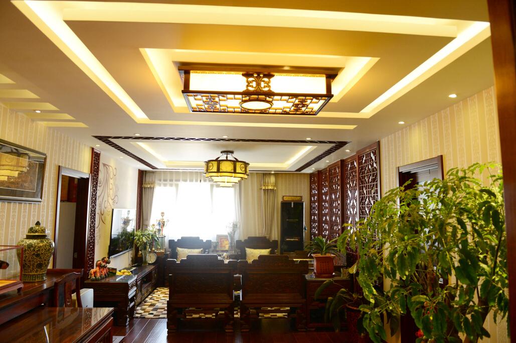 中式 三居 白领 旧房改造 今朝装饰 客厅图片来自北京老房装修-今朝装饰王丽在古色古香的中式设计的分享