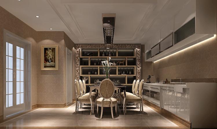 一号院 西山 欧式 三居 二居 四居 复式 跃层 别墅 餐厅图片来自高度国际装饰王伟在【西山一号院】-277㎡--欧式的分享