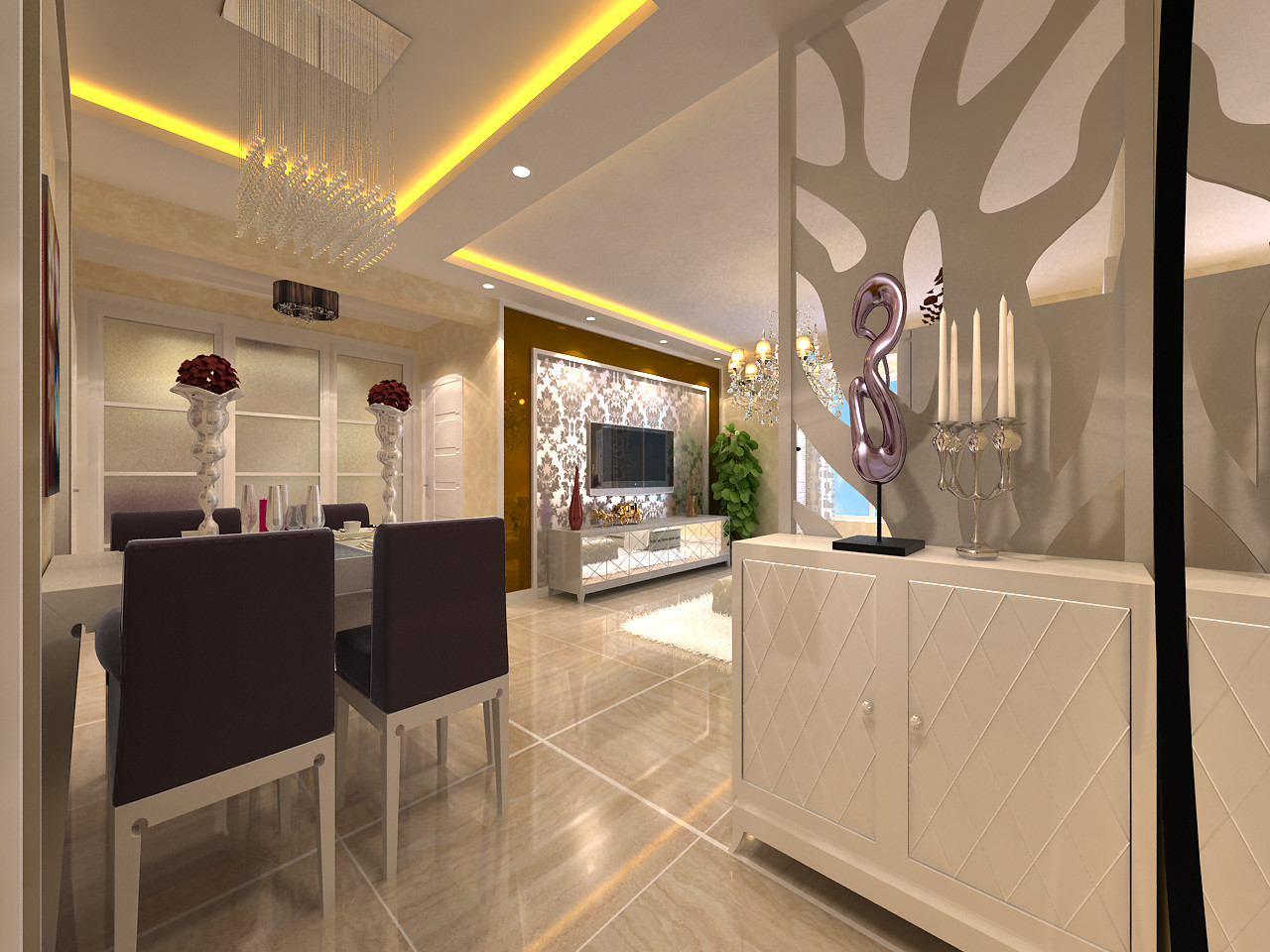 百家装饰 龙湖紫都城 环保装修 卫生间效果 餐厅图片来自张竟月在龙湖紫都城88平现代风格的分享
