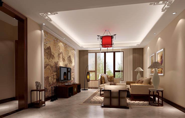 新中式 客厅图片来自高度国际宋书培在京汉铂寓 三居室装饰效果图的分享